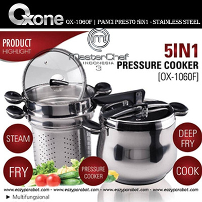 OX-1060F | Panci Presto 5in1 Oxone - Stainless Steel