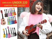 🔥UNDER $20 UKELELE🔥LIMITED TIME ONLY 21 Inches Ukelele Guitar Instrument Capo Pick Wood Composite