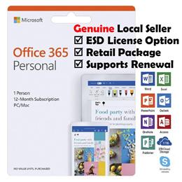 Microsoft Office 365 Personal 1 Year Win/Mac