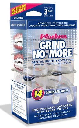 Plackers Mouth Guard Dental Guard. Pack of 3. Free 2 Denture Cleansing Tablet and 1 Container.