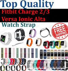 Fitbit Charge 2 / Charge 3 / Versa / Ionic / Alta Watch Straps - Silicone Nylon Leather Milanese