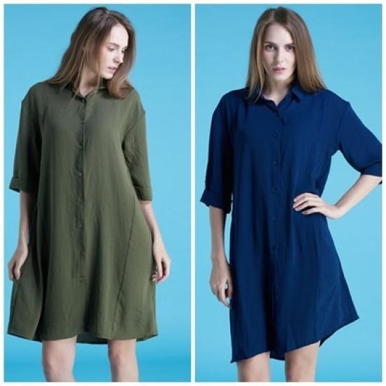 渓谷をパクシシャツ型ドレス523080 面ワンピース/ 韓国ファッション