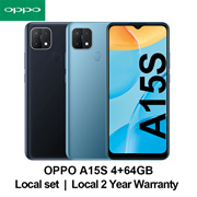 [Local Set]OPPO A15S Smart phone 4+64GB Local 2 Years OPPO Warranty