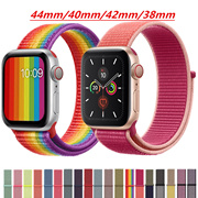 【Big Sale】}nylon Strap For Apple Watch band apple watch 4 5 3 band 44mm/40mm Sport loop iwatch band