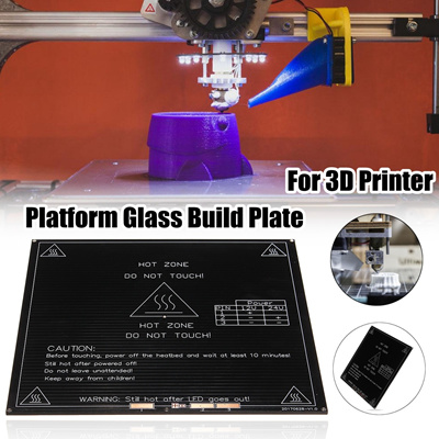 MK3 12V/24V 3D Printer Platform Glass Build Plate PCB Heatbed Board with  Large Wire(Size: 214x214mm)