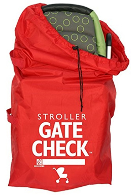 [J.L. CHILDRESS] JLC2112 - Gate Check Bag For Standard and Double Strollers, Red
