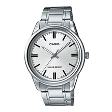 Casio  MTP-V005D-7BUDF Analog Quartz Silver Stainless Steel Mens Watch
