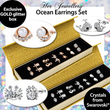 Crystals from Swarovski® - Her Jewellery - Ocean Earrings Set