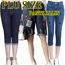 【April 29th update 】2018 NEW FASHION LADY PLUS SIZE BOTTOM PANTS SHORT DENIM /Embroidery/COWBOY