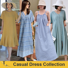 1st Jul Update New Arrivals ♥Korean Style Dress♥ Linen Dress / Casual / LOOSE Fit  / Plus Size