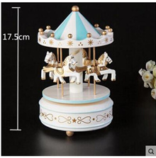 Cake Decorative Carousel Music Box Creative Child Birthday Cake Decoration Decoration Carousel Decor