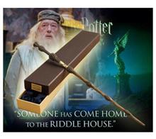 Dumbledore Harry Potter Prof. Sambucus No Light Wand COS Toy Collection Metal Core