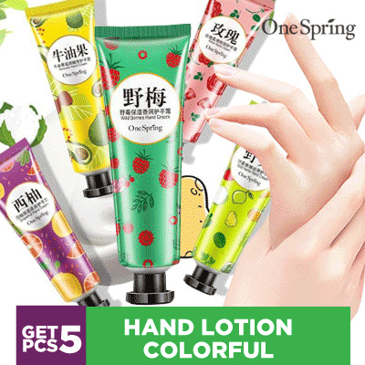 Onespring Hand Lotion Colorful - Hand Cream Good Material contents 5pcs