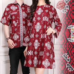 SB Collection Couple Atasan Blouse Gracella Tunik Dan Kemeja Batik Pria