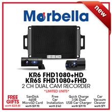 NEW★Korea Made Blackbox★ Marbella KR6 2H FHD1080P+HD720P Dual Cam Recorder Ultra-compact/Wi-Fi/24hrs