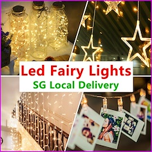 ★Super Sale★ SG Delivery ★ Christmas Fairy Lights ★  Battery Operated For Party Wedding dec