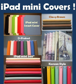 *Free Screen Protector*Free Shipping* iPad mini Cases /New iPad 4 / iPad 2 / iPad 3 for SALE! Smart covers 360 Icon Korean Book styles