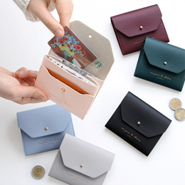 [100% Authentic] ICONIC Slit Half Wallet - card holder card case card wallet korean wallet