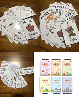[LOCAL SELLER] Preschool / Penmanship / Flash Cards / Alphabets / Number / English - Mandarin