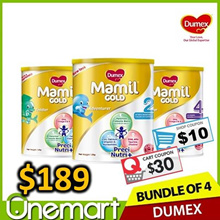 [DUMEX] 4 x 1.6kg Carton Sale ★  Step 2/3/4 Baby Milk Formula ★
