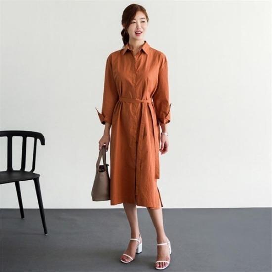 るみさん行き来するようにるみさんるみさんザ・デー・シャツ、ロングワンピース プリントのワンピース/ 韓国ファッション