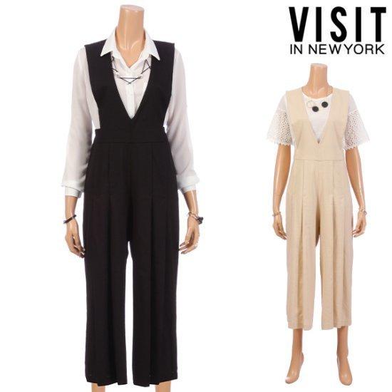 ・ビジット・インニューヨーク誌のワイドつなぎVTEOP48 面ワンピース/ 韓国ファッション
