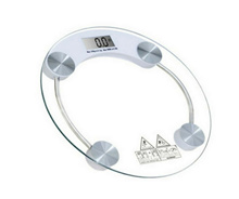 Round Digital LCD Tempered Glass Weighing Personal Scale