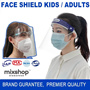 Face Shield with Glasses /Adults/ PET Protective Isolation Mask/ Anti-spray Face Shield /