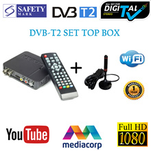Full HD 1080P DVB-T2 Receiver/Digital Video Broadcasting Set Top Box With Antenna/DVB-T2 Tunner