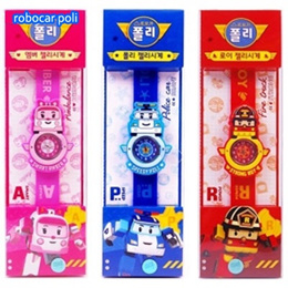 ★New★ Robocar Poli one touch jelly watch / Robocar Poli toy watch /(Given sweety)
