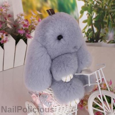 5918c2c93 Premium Kopenhagen Fur Bunny Rabbit Keychain Pendant for Bag Backpack  Handbag Clips Soft Toys