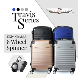 ★WINNING LUGGAGE★ TRAVIS SERIES 20/24/28 inch Durable ABS Expandable Light-weight with 360° wheels