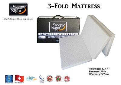 Medellin® Sleepy Night 3 Fold Mattress | Sleepynight Foldable Mattress Folding Mattress