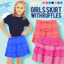 NEW COLLECTION / GIRLS JUNIOR SKORTS WITH RUFFLES / BEST SELLER / GOOD QUALITY
