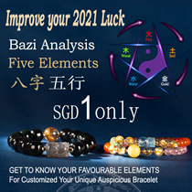 Bazi Reading by our Fengshui Master to get your Favourable Elements to customized Gemstones Bracelet
