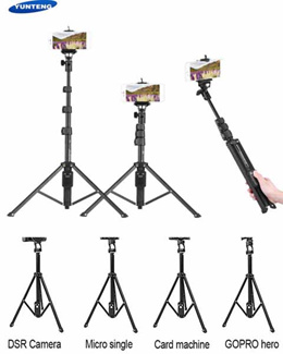 YUNTENG VCT-1688 2 in 1 Portable Mini selfie monopod and Tripod with Bluetooth Remote Controller