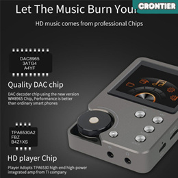 [CRONTIER]HIFI lossless Compact and Portable MP3 Player
