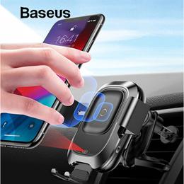 Baseus 베이스어스 오토 슬라이드 무선 고속충전 거치대 / 적외선 센서로 자동 고정 / 무선 충전 / 강력한 고정 / 10가지 보호기능