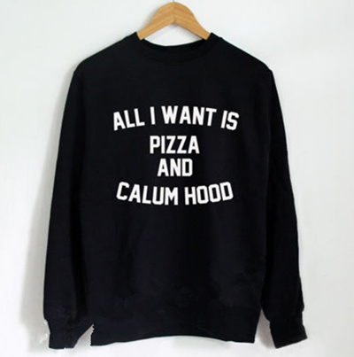 90a48f75a ALL I Want IS Pizza And Calum Hood Sweater 5 Seconds of Summer s Calum Hood