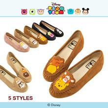Gracegift-Disney Tsum Tsum Leather Moccasins/Women/Ladies/Girls Shoes/Taiwan Fashion