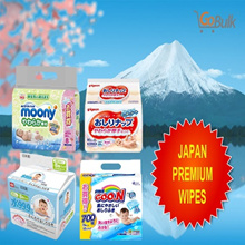 *Japan*Premium* Baby Wipes / Pigeon (18 packs) / LEC (24 pack) / Moony ( 24 pack) / Goo.n (20 pack)