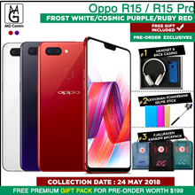 Pre Order Oppo R15 / R15 Pro / 6/128GB Exclusive Gifts pack Worth $199. Local 2yrs Official Warranty