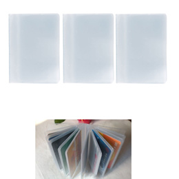 Fashion Plastic PVC Clear Pouch ID Credit Card Holder Organizer Keeper Pocket Name Business Card