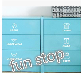 clothes closet series classification label clothes cupboard drawer prompted Yafeng sticker Korean wall stickers