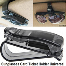 Black Car Auto Sun Visor Glasses Sunglasses Card Ticket Holder Clip Universal SD Black