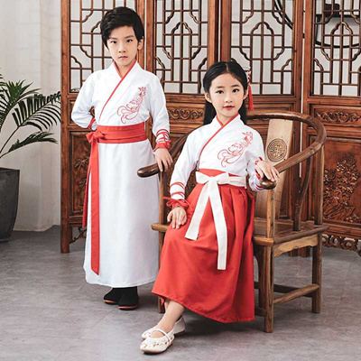 f3b6be8375b discount Girl Boy Dance Costumes Kids Chinese Traditional Dress Tang Dynasty  Suit Children Wedding S