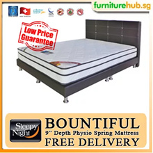 Sleepy Night Bountiful Physio Spring Mattress with bedframe promo. [King Queen Super Single Single