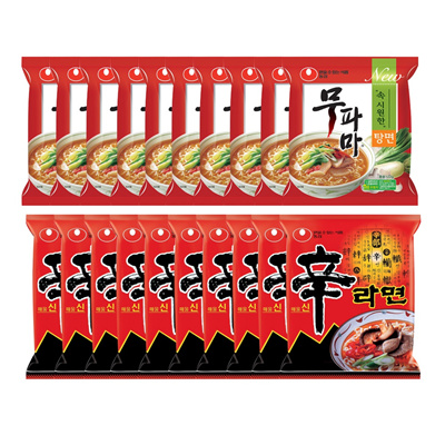 (10 packs of Nongshim muffins + bags) Nongshim Shinramyun 10 pieces (total quantity: 20 pieces) / Hi