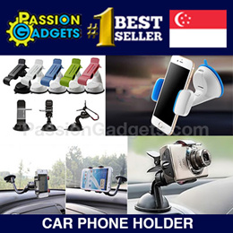 [SG Seller!FREE SHIPPING!]Car Universal Holder 360 Degree Mount Stand for Mobile Phone Rotation Support GPS Grab Clip Suction Clip Windshield Rotating Bracket for iPhone Cellphone MP4 PDA