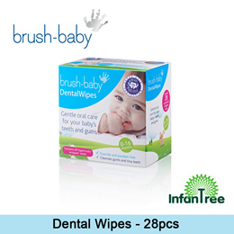 Brush Baby Dental Wipes 28 pcs (0-16 months)